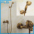 Single Lever Brass Antique Faucet Shower Set