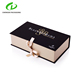 Custom Wholesale Stronger Durable cardboard jewelry package drawer wig gift box with silver stamped logo