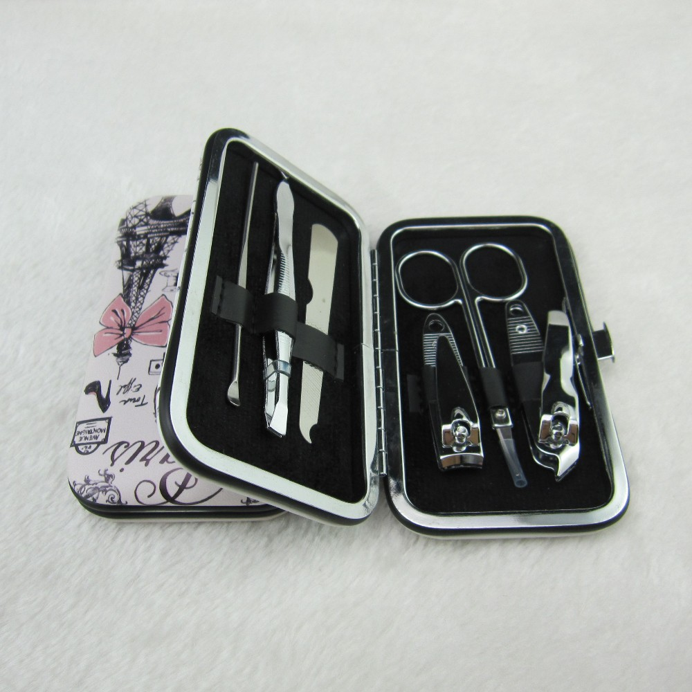 manicure set in metal case of 6pcs