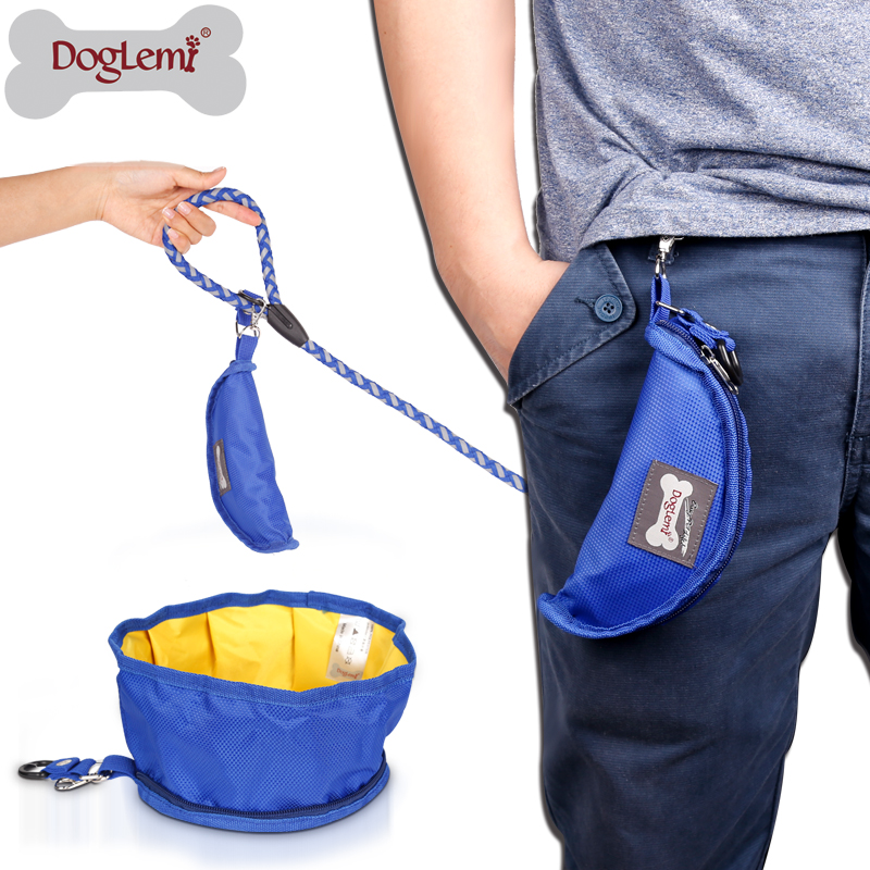 Folding Collapsible Portable Travel Food & Water Bowl for Pets Dogs Cats