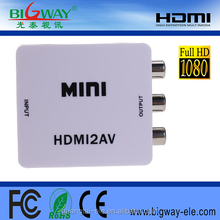 HDMI to AV converter Mini RCA/CVBS/AV to HDMI 720P/1080P Video Upscaling Converter Adapter For HD TV