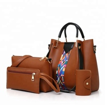 china suppliers ladies bags women 4pcs <strong>handbags</strong> set 2019