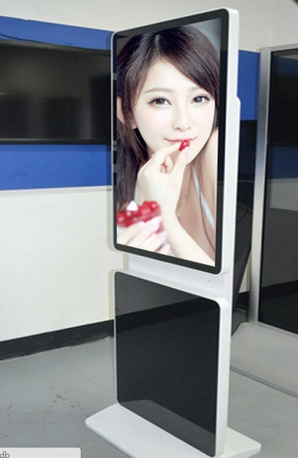 32 inch alone stand rotatable android LED signage loop player display