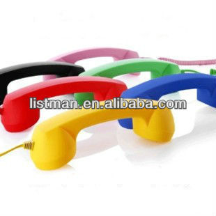 3.5mm Mic Retro POP Telephone Headset For iPhone 5 4S 4G 3G 3GS MAC