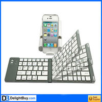 Foldable Folding Wireless Bluetooth Keyboard with Stand for iPad iPhone Android