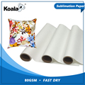 Koala factory supply 80g fast dry sublimation transfer paper roll