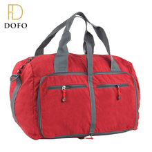 Red solid polyster durable multi pocket latest model bulk large travel bags