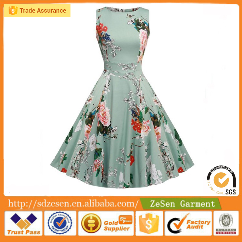 Custom Spring Garden Party Dress Cocktail Dress Rockabilly Clothing For Women