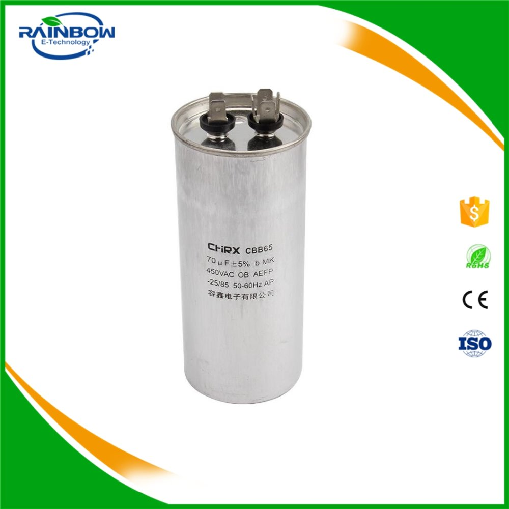 Air Conditioning Capacitor CBB65 70UF 450V Compressor capacitor