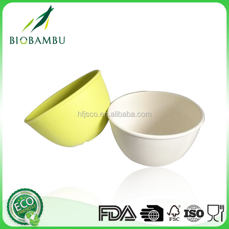 Factory price Pretty design bamboo disposable food container/bamboo fiber bowl