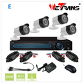 HD KIT-2404S-E HD 720P DVR KIT 4 Cameras CMOS Sensor 4pc Outdoor Camera H.264 DIY 4ch CCTV Camera System CCTV Package