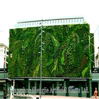 Guangzhou plants wall factory price home/park/company/building/shopping mall indoor&outdoor decoration artificial plants wall