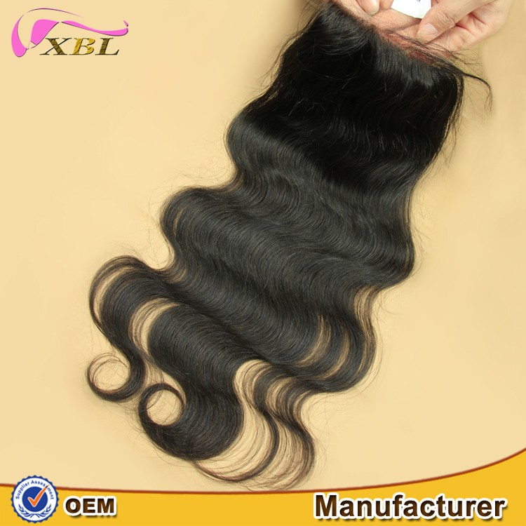 Manufacturing Company! XBL gorgeous and Sexy for Ladies, 100% virgin hair closure free sample