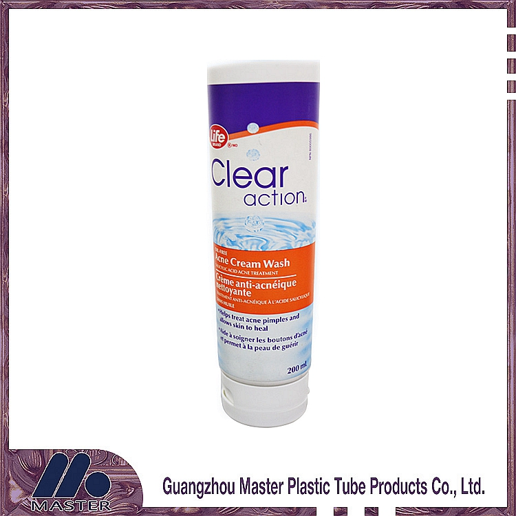 200ml High-quanlity clear round plastic cosmetic tube