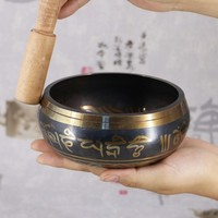 New Products Custom Handmade Himalaya bowl Tibetan Singing Bowl High Quality and Hammered For Yoga/ Meditation for Sale