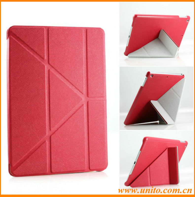 Factory price 10 folds transformers tablet cover case,for ipad air transformers case