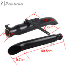 Hot Selling Pazoma Black Motorcycle Exhaust Muffler For Custom Motorcycles
