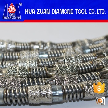 Huazuan vacuum brazed diamond wire for marble cutting