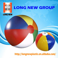 Plastic Soft and Flexible Inflatable Beach Ball Outdoor Toy