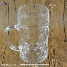 1 Liter Dimpled Glass Beer Stein German Style Extra Large Glass Beer Mug