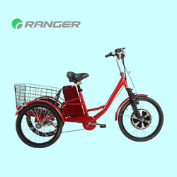non electric cargo pedal trike tricycle with 36V 12Ah lead acid battery CE