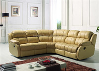 Luxury l shape leather corner sofa set for sale(FOH-SF3648S)
