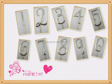 CAJ-SZ-0 Hot Sell !Birthday Rhinestone number ,Rhinestone Number Cake Topper For Wedding,