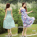 Women print bodycon dress maxi dress korean fashion floral print dress