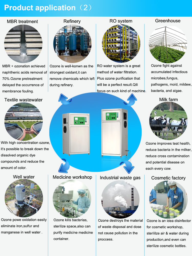 High quality ozone equipment CE ROHS laundry water treatment ozone generator