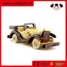 Home Decor Diy Wooden Craft for Children Wooden Toy Car