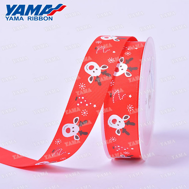 Christmas red printed 3 inch grosgrain celebrate it ribbon