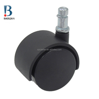 "BIFMA standard china BL 1""black mini duty nylon grip ring stem appliance caster wheels"