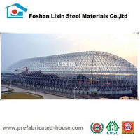 Prefabricated light steel building truss for roof