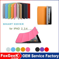 Fashionable Silk fiber tablet cover case for ipad 2 3 4 with Smart Cover magnetic Sleep / wake up features hot selling i