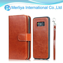 Hot selling TPU Leather wallet phone case for Sam s8/s8plus