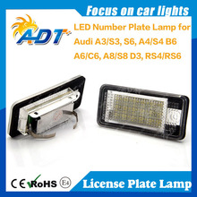 Hot E-Mark Xenon white car license plate lamp LPL for audi A3 A4 A6 Q7 TDI RS4 led bulb car accessories