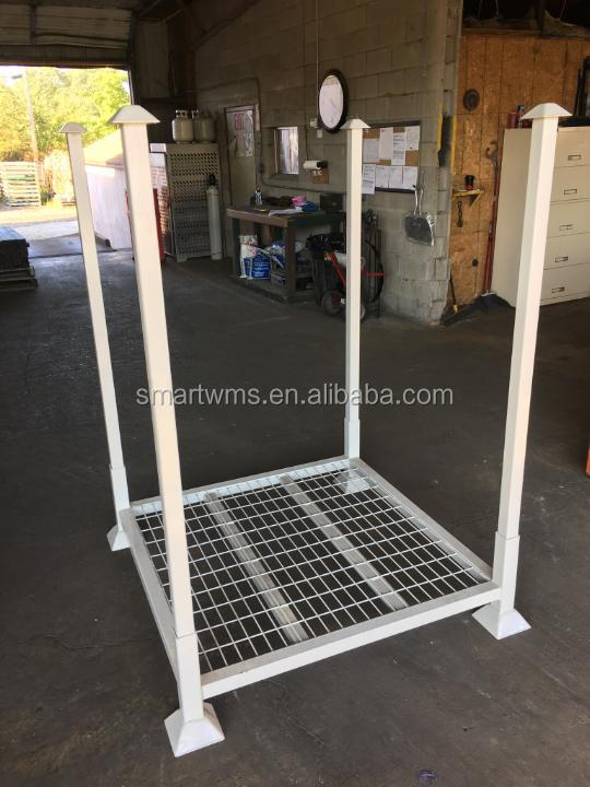 Adjustable Standard Zinc Plate Movable Stacking Rack For Tire Storage