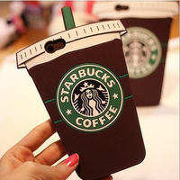 Wholesale 2016 3D Creative Starbucks Style Soft Silicone Mobile Phone Cover Case For iPhone 6