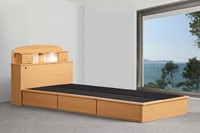 Modern Simple Design Hotel Wooden Single Cot Bed Drawer