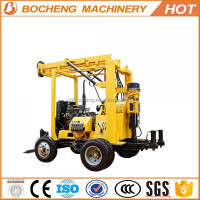 Trailer Mounted Drilling rig Portable Water Well Borehole Drilling Machine