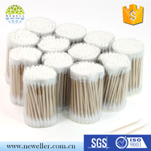 Colored two head points liquid long cotton swabs in bulk