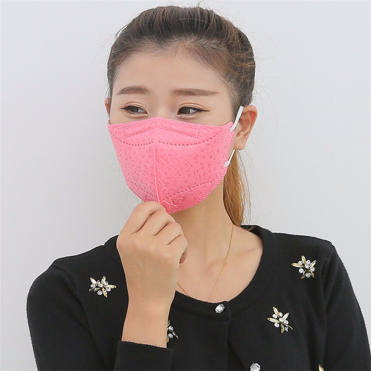 Masks adult men and women in autumn and winter classic plaid cotton masks double warm dust