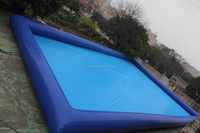 Blue PVC outdoor large inflatable swimming pool