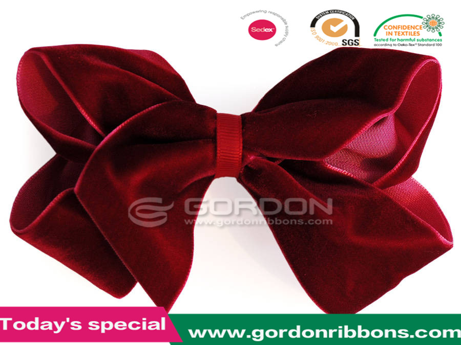 luxurious velvet boutique hair bow by candy bows