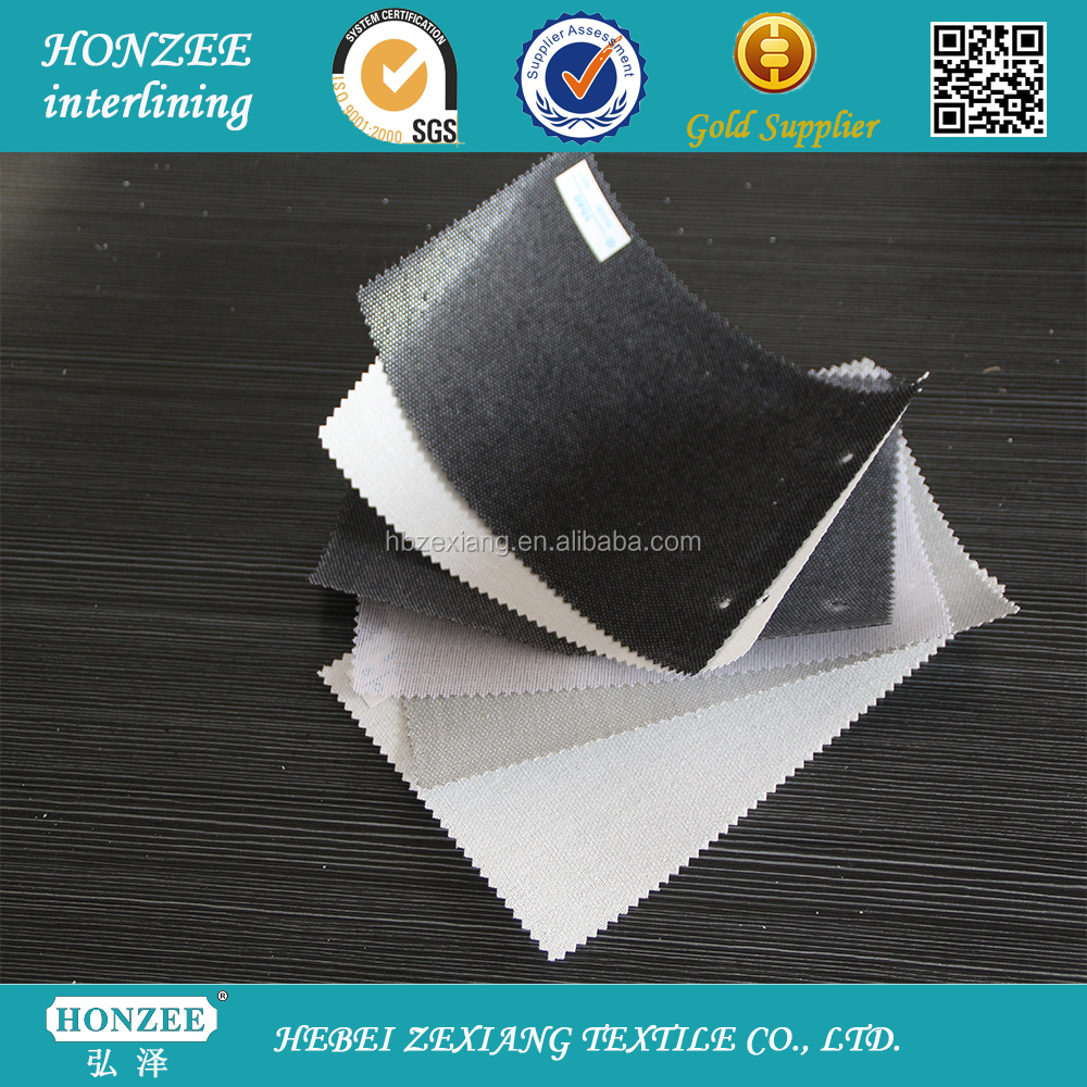 polyester black color hard wholesale interfacing