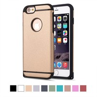 Strong protect NON SLIP METAL GOLD ARMOR colofrul MOBILE PHONE CASE FOR Iphone 6