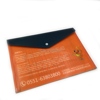 A4 size Custom promotion envelope document file PP folder with botton