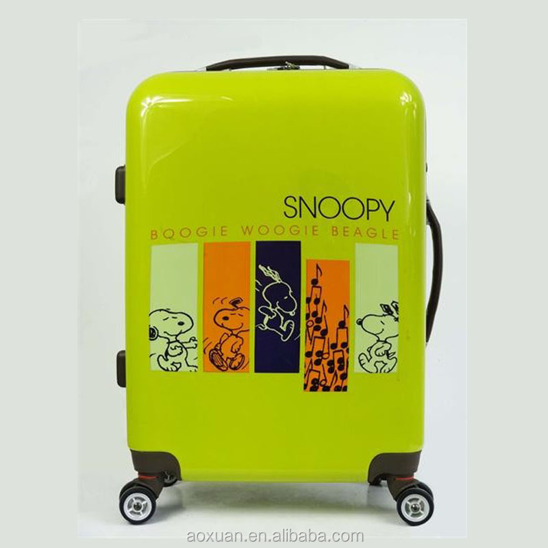 Hot Sale New Fashion snoopy Trolley traveler suitcase car luggage