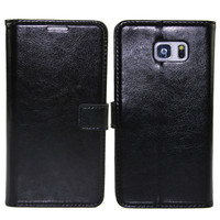 New Business Wallet Stand Design PU Leather Case Cover For Samsung Galaxy S5 S4 S3 NOTE 4 NOTE 3 With 2 Card Holders Flip Cover