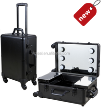 Zeal with lights professional makeup trolley case